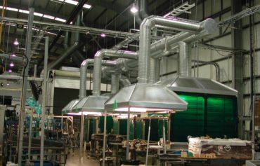 Монтаж вентиляции на производстве
