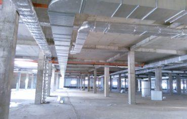 Монтаж вентиляции на складе