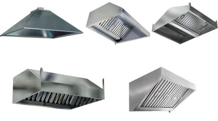 Конструктивные особенности вытяжных зонтов